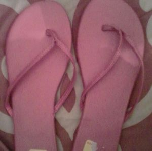 Pink New York and Company flip flops